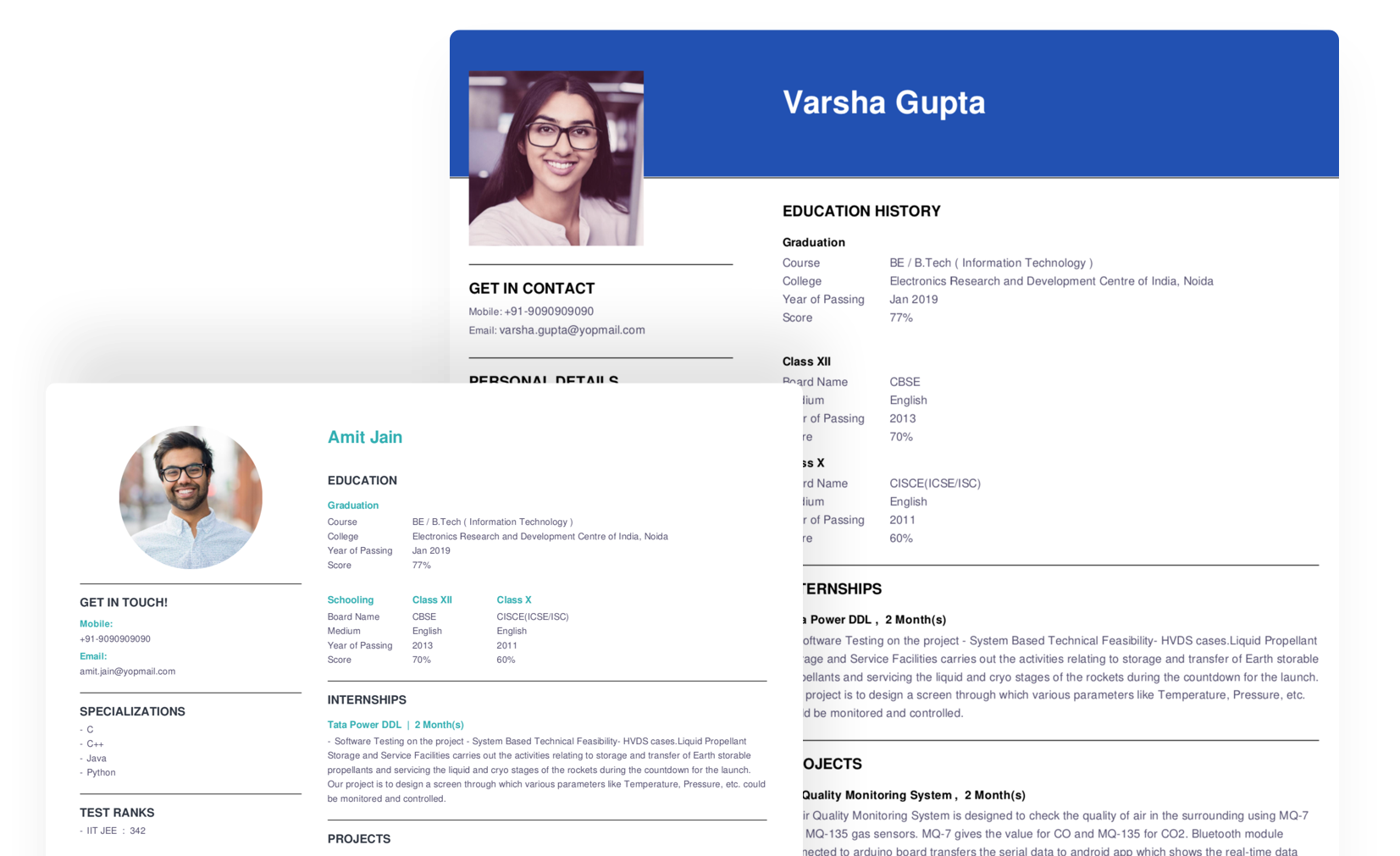 Online Resume Maker For Freshers Resume Builder Online Firstnaukri Com